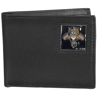 NHL Florida Panthers Leather Bi-fold Wallet in Gift Box