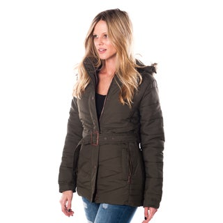 Ladies' Faux Fur-Lined Hooded Zip-Up Jacket