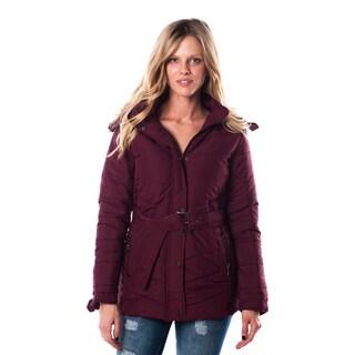 Ladies' Faux Fur-Lined Hooded Zip-Up Jacket