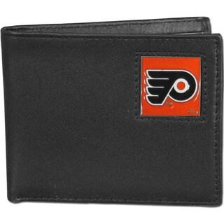 NHL Philadelphia Flyers Leather Bi-fold Wallet in Gift Box