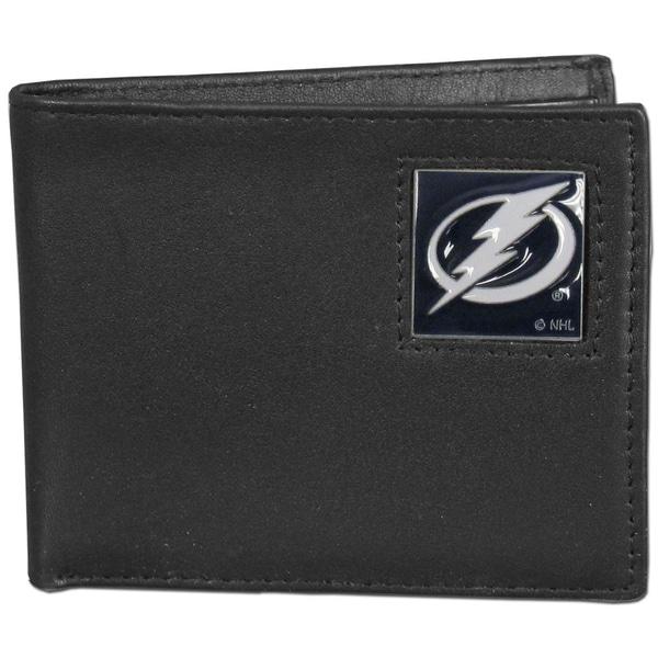 NHL Tampa Bay Lightning Leather Bi-fold Wallet in Gift Box