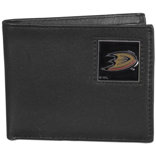 NHL Anaheim Ducks Leather Bi-fold Wallet in Gift Box