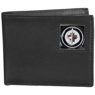 NHL Winnipeg Jets Leather Bi-fold Wallet in Gift Box