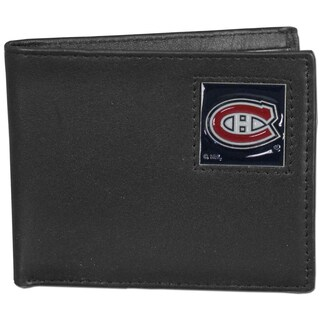 NHL Montreal Canadiens Black Leather Bi-fold Wallet Gift Set