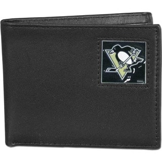 NHL Pittsburgh Penguins Leather Bi-fold Wallet in Gift Box
