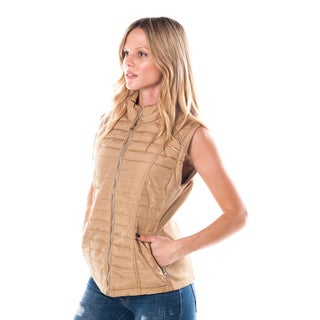 Women's Faux Fur Vest with Back Details