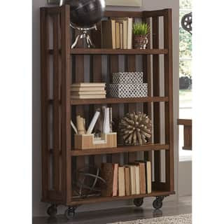 Arlington House Cobblestone and Metal Open Bookcase|https://ak1.ostkcdn.com/images/products/13471253/P20158516.jpg?impolicy=medium