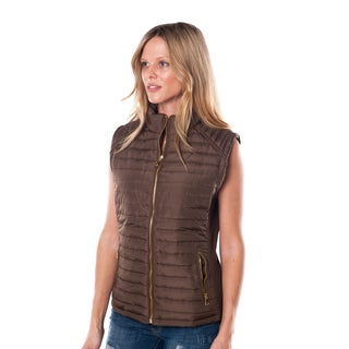 Women's Faux Fur-Lined Zipper Vest