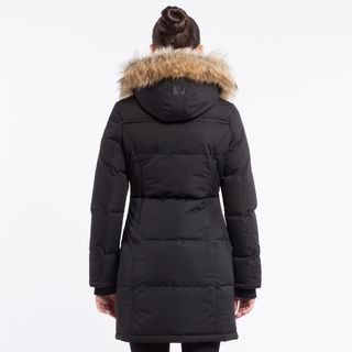 Noize Women's Red Faux Fur-Insulated Hooded Coat