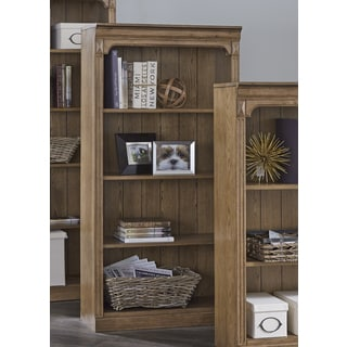 Liberty Cumberland Rustic Oak 60 Inch Open Bookcase