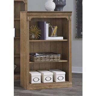Cumberland Rustic Oak 48 Inch Open Bookcase