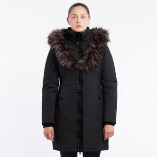 Women's Quilted Faux Fur-Trim Jacket