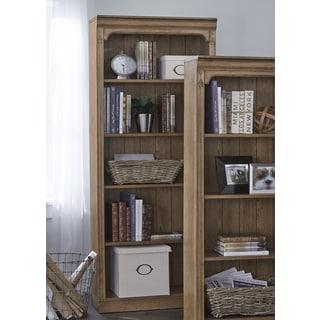 Cumberland Rustic Oak 72 Inch Open Bookcase