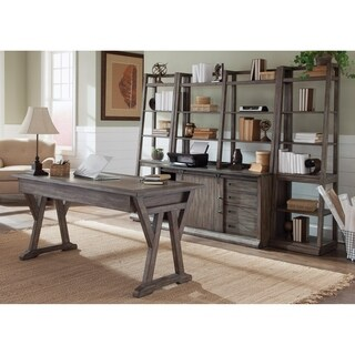 Stone Brook Rustic Saddle 5-piece Desk
