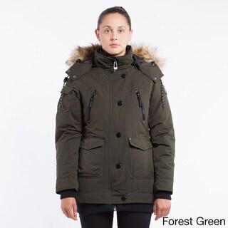 Noize 'Borge16' Women's Detachable Faux Fur Hood Parka