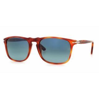 Persol Mens PO3059S 96/S3 Crystal Plastic Square Sunglasses
