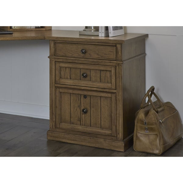 liberty cumberland rustic oak 24 inch 3-drawer file cabinet - free 24 inch file cabinet