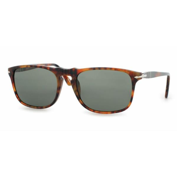 Persol Mens PO3059S 108/58 Crystal Plastic Square Sunglasses