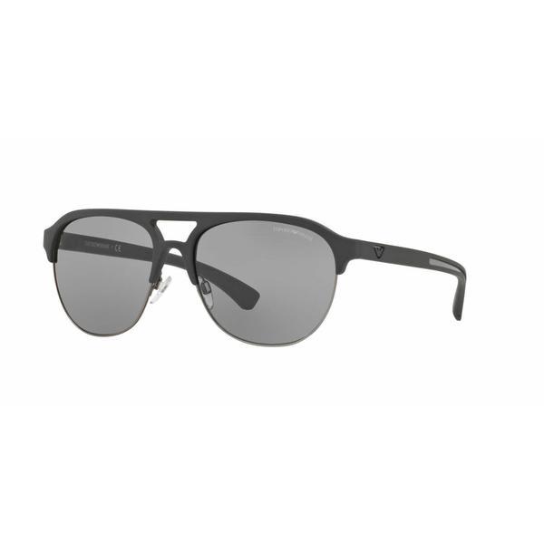 d67cfdde04e1 Shop Emporio Armani Mens EA4077 5100 1 Grey Plastic Square Sunglasses -  Free Shipping Today - Overstock - 13471330