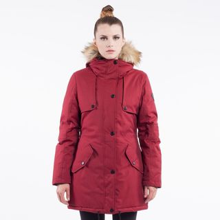 Noize 'Dani' Women's Faux Fur-hooded Parka Coat