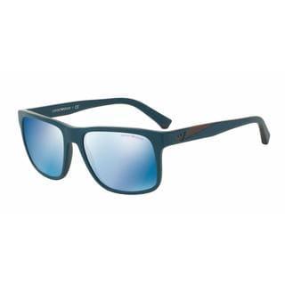 Emporio Armani Mens EA4071F 550855 Green Plastic Square Sunglasses
