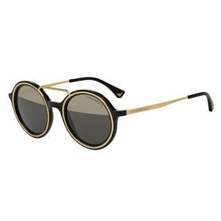 Emporio Armani Mens EA4062 50171Z Black Plastic Round Sunglasses