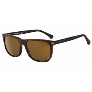 Emporio Armani Mens EA4056F 508973 Havana Plastic Rectangle Sunglasses