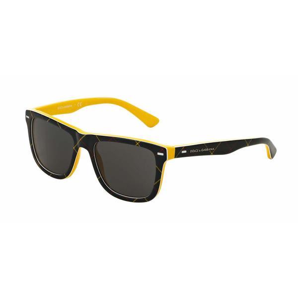 ffa4a84280c Shop Dolce   Gabbana Mens DG4238 298987 Plastic Plastic Square Sunglasses -  Free Shipping Today - Overstock.com - 13471449