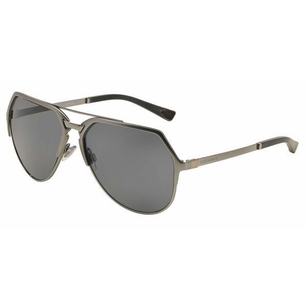 3935cac8e7d18 Dolce  amp  Gabbana Mens DG2151 110881 Gunmetal Metal Cateye Sunglasses -  Grey