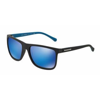 Dolce & Gabbana Mens DG6086 OVER-MOLDED RUBEBR 293525 Plastic Plastic Square Sunglasses