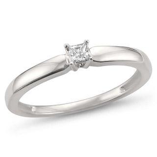 Montebello Jewelry 14k White Gold 1/10ct TDW Diamond Ring