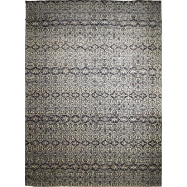 Fine Oushak Aigerim Lt. Grey/Ivory Rug (14'1 x 20'3)