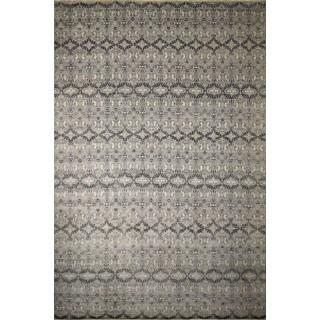 Fine Oushak Ainagul Silver/Ivory Rug (12'3 x 18'0)