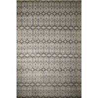 Fine Oushak Ainagul Silver/Ivory Rug (12'3 x 18'0) - 12'3 x 18'