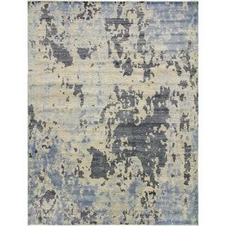 Fine Oushak Akjamal Beige/Grey Rug (9'0 x 11'11)