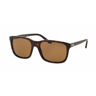 Ralph Lauren Mens RL8142 500383 Havana Plastic Square Sunglasses