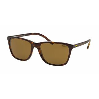 Polo Mens PH4108 500373 Havana Plastic Square Sunglasses