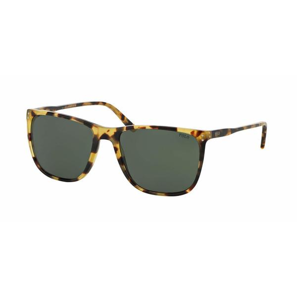 Polo Mens PH4102 500471 Havana Plastic Square Sunglasses