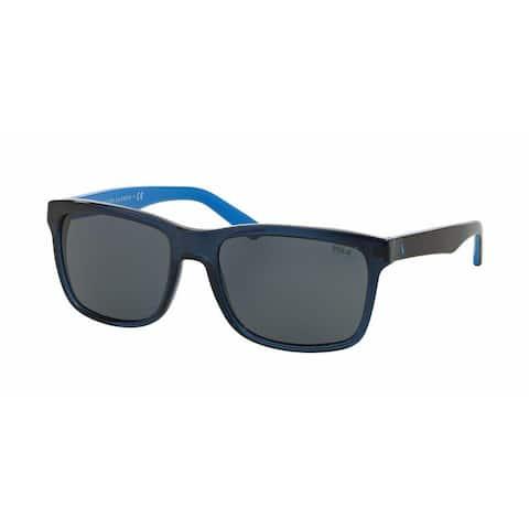 Polo Mens PH4098 556387 Blue Plastic Square Sunglasses
