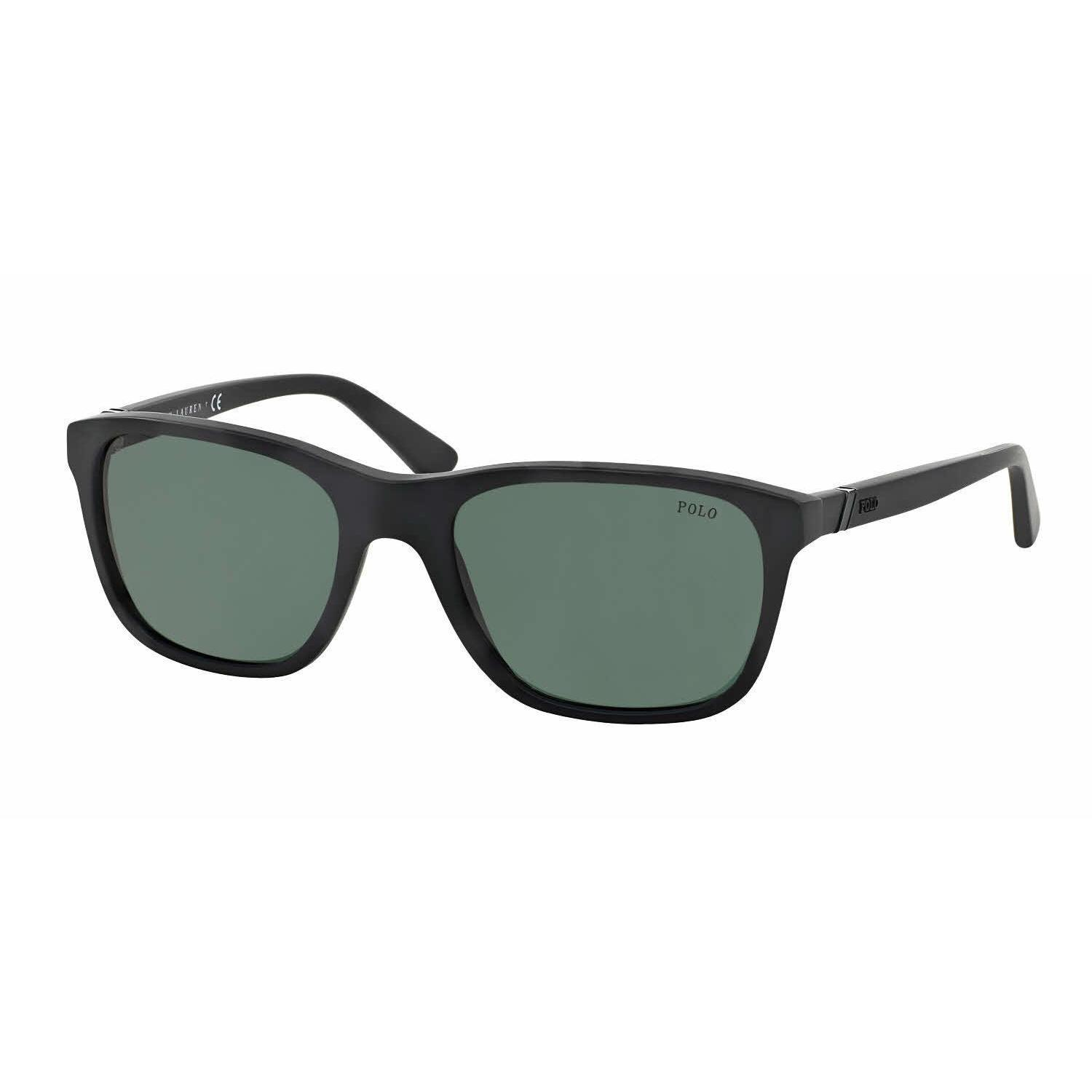 75a932954ad7 Shop Polo Mens PH4085 528471 Black Plastic Square Sunglasses - Green - Free  Shipping Today - Overstock - 13471615