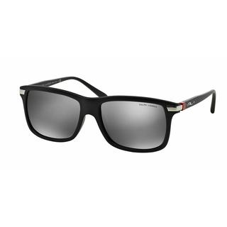Polo Mens PH4084 AUTOMOTIVE EVOLUTION 52846G Black Plastic Rectangle Sunglasses