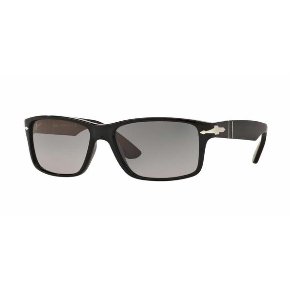 f78541655f0 Shop Persol Mens PO3154S 104171 Black Plastic Rectangle Sunglasses ...
