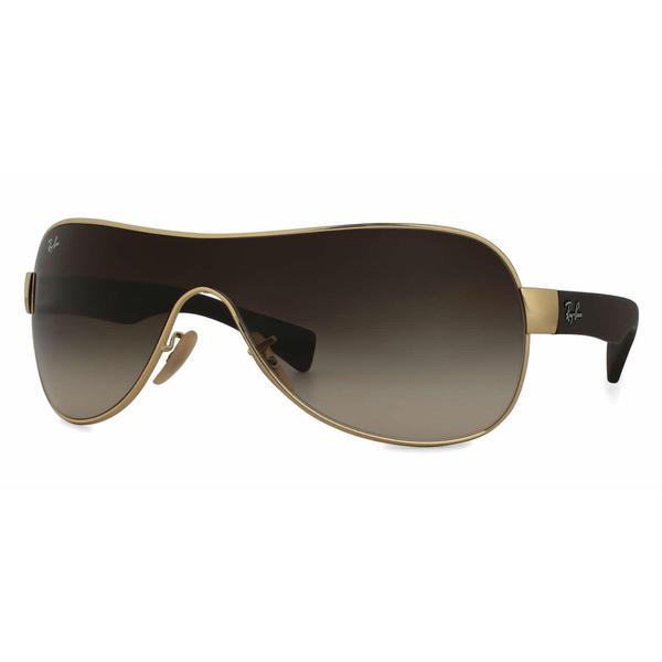 1848758f4b Shop Ray Ban Mens RB3471 001 13 Gold Metal Cateye Sunglasses - Brown ...