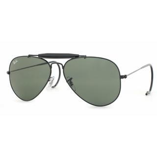 Ray Ban Mens RB3030 OUTDOORSMens L9500 Black Metal Cateye Sunglasses