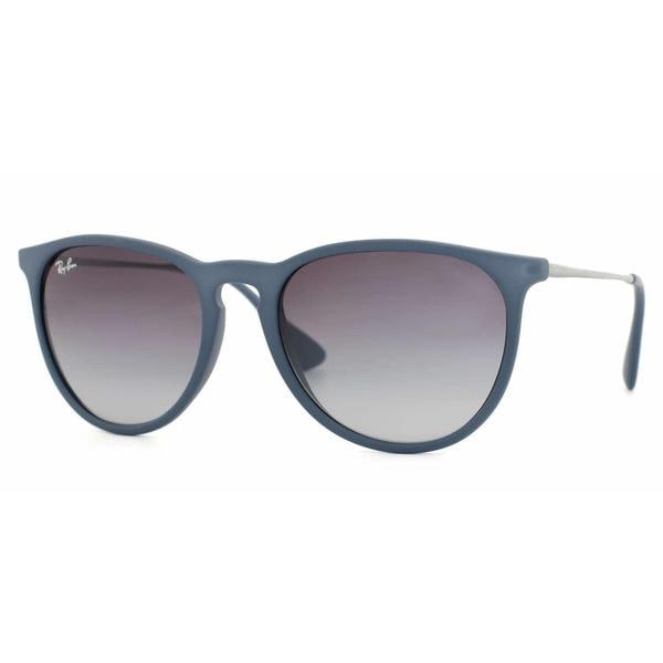 Shop Ray Ban Womens RB4171 ERIKA Blue Frame Grey Gradient Cateye ...