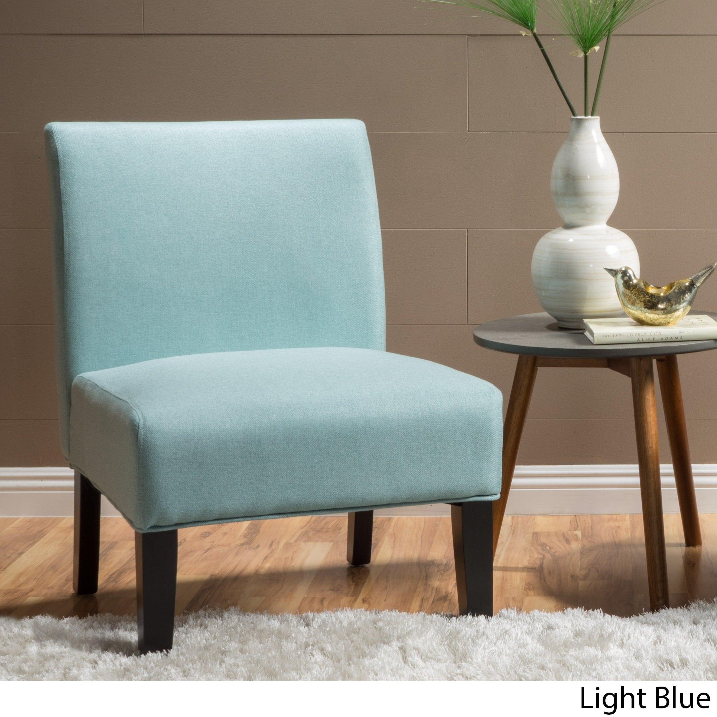 Clay Alder Home Platte Blue Fabric Accent Chair (Option: Light Blue)