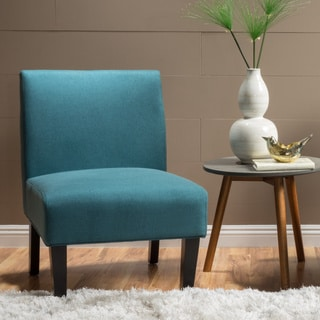 Superbe Clay Alder Home Platte Blue Fabric Accent Chair