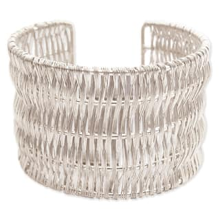 Wide Metal Wire Wrapped Cuff Bracelet|https://ak1.ostkcdn.com/images/products/13473558/P20160495.jpg?impolicy=medium