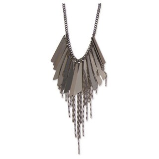 Spikes Chain Bib Necklace