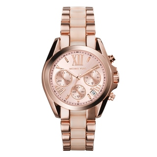 Women's Chronograph Rose Gold-tone Stainless Steel Watch